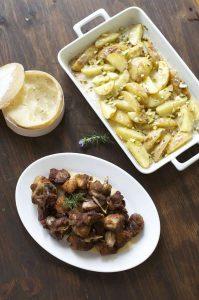 Cordero-Extremadura-refrito-ajos-patatas-crema-Torta-Casar-02|Cordero-Extremadura-refrito-ajos-patatas-crema-Torta-Casar-01
